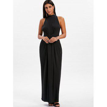 Knot Back Cut Out Maxi Dress - BLACK XL