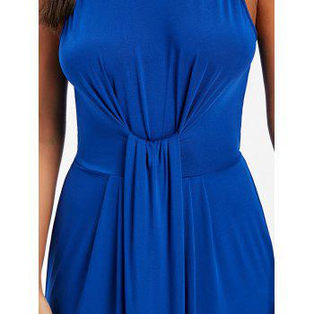 Knot Back Cut Out Maxi Dress - ROYAL BLUE XL