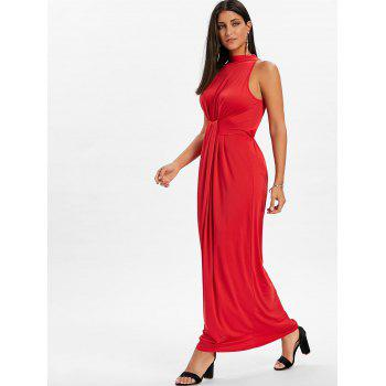 Knot Back Cut Out Maxi Dress - FIRE ENGINE RED 2XL