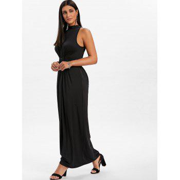 Knot Back Cut Out Maxi Dress - BLACK M
