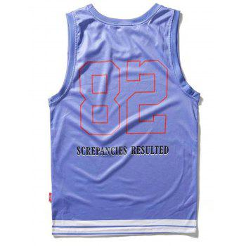 Animal 82 Graphic Tank Top - BLUE LOTUS XL