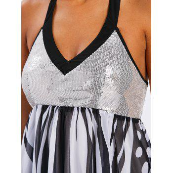 Sequins Backless Butterfly Dress - WHITE M