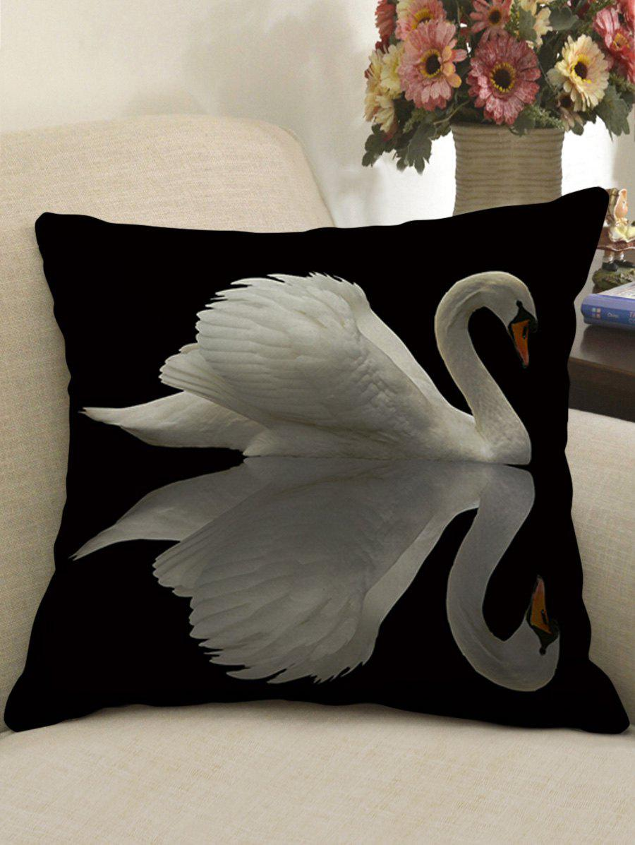 Symmetrical Swans Pattern Throw Pillow Case merry christmas grass cushion throw pillow case