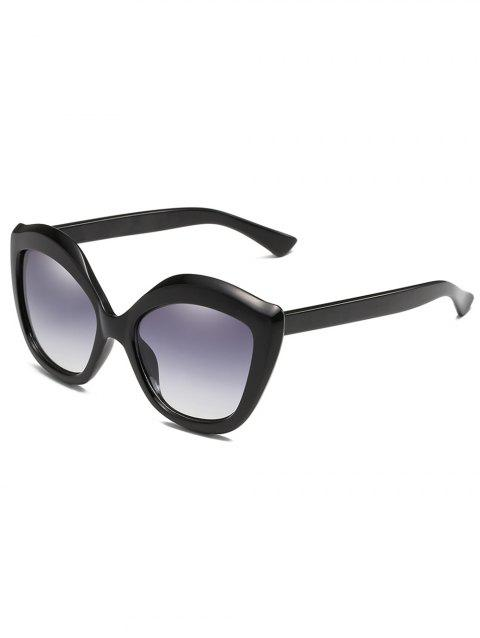 Anti Fatigue Full Frame Oversized Sunglasses - BLACK