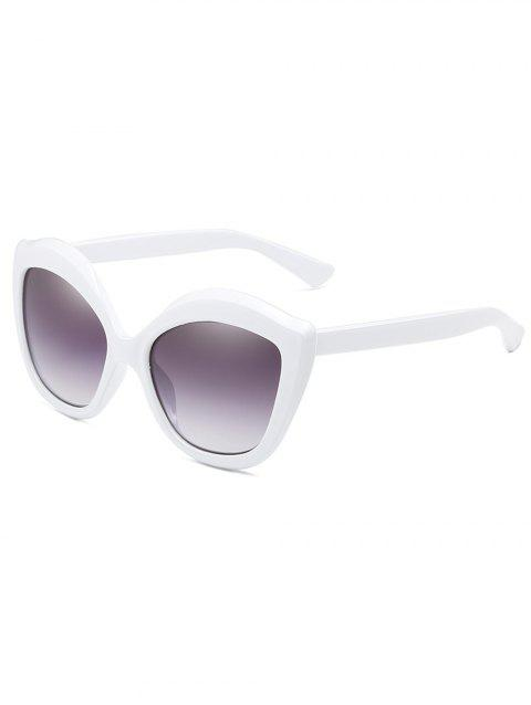 Anti Fatigue Full Frame Oversized Sunglasses - WHITE