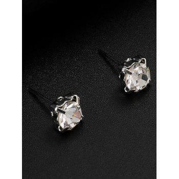 Alloy Layered Bowknot Sun Pendant Necklace Rhinestone Earrings Jewelry Set - SILVER