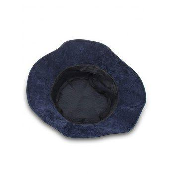 Animal Embroidery Sun Shades Bucket Hat - LAPIS BLUE