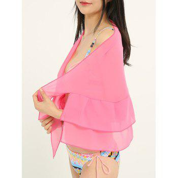 Simple Solid Color Double Layers Long Scarf - LIGHT PINK ONE SIZE