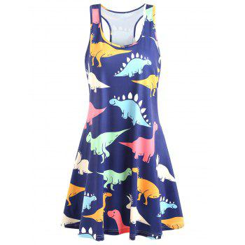 Plus Size Dinosaur Swing Dress
