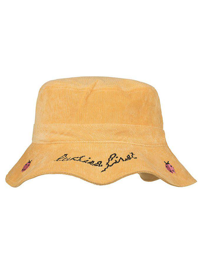 Animal Embroidery Sun Shades Bucket Hat - GOLDEN BROWN