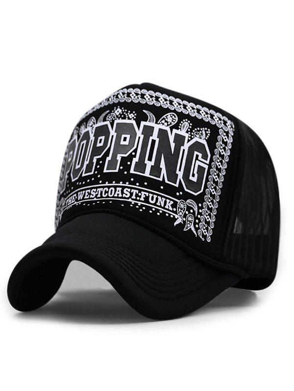 POPPING Printed Hip Hop Dancing Hat unisex men women m embroidery snapback hats hip hop adjustable baseball cap hat