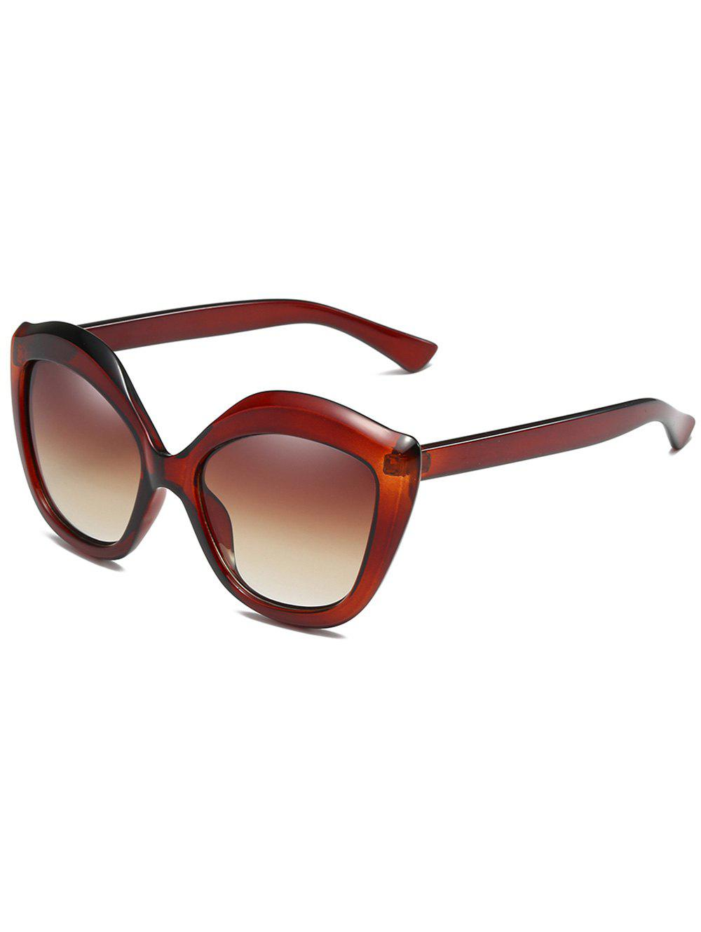 Anti Fatigue Full Frame Oversized Sunglasses - BROWN BEAR