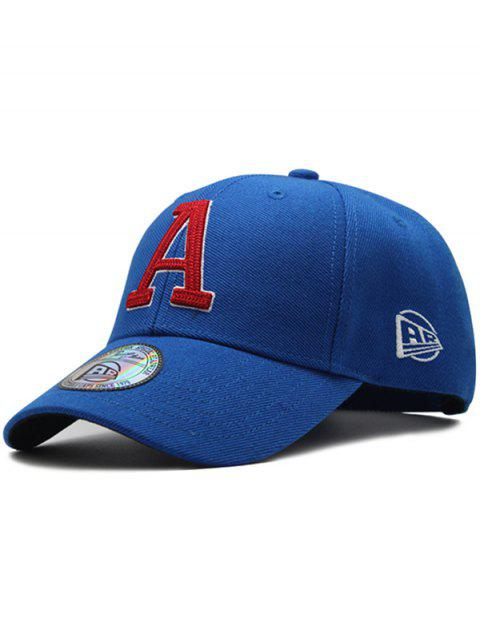 Letter A Embroidery Adjustable Graphic Hat - ROYAL BLUE
