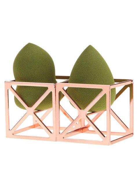 2Pcs Magic Cube Shape Makeup Sponge Holders - ROSE GOLD