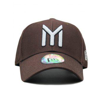 Unique Letter M Embroidery Sunscreen Hat - COFFEE