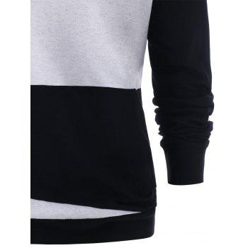 Two Tones Sweatshirt - BLACK 2XL