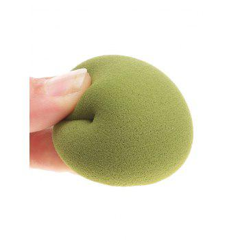 3Pcs Water Drop Shaped Makeup Sponge Puffs - GREEN