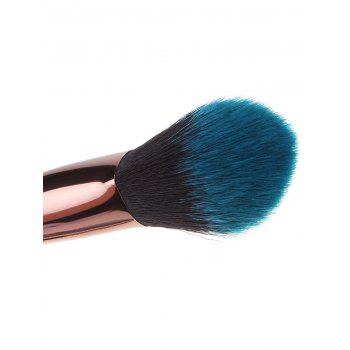Portable Ombre Handle and Hair 7Pcs Makeup Brushes Set - BLUE