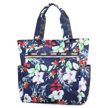 Floral Decorated Casual Tote Bag - multicolor