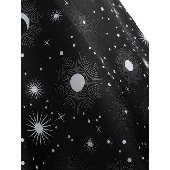 Plus Size Vintage Sun Print Dress - BLACK 4X