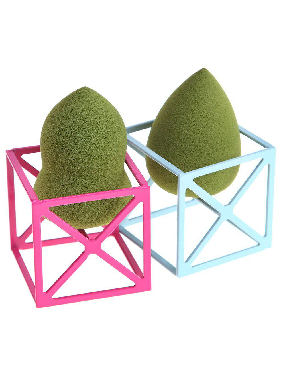 2Pcs Magic Cube Shape Makeup Sponge Holders clear acrylic a3a4a5a6 sign display paper card label advertising holders horizontal t stands by magnet sucked on desktop 2pcs