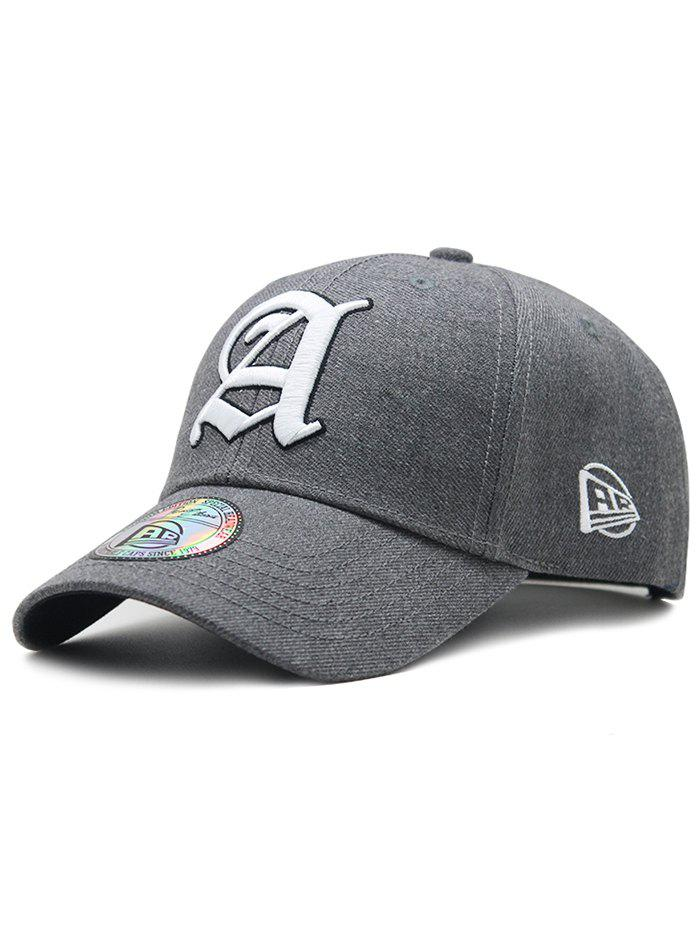 Simple Letter Embroidery Adjustable Graphic Hat - BATTLESHIP GRAY