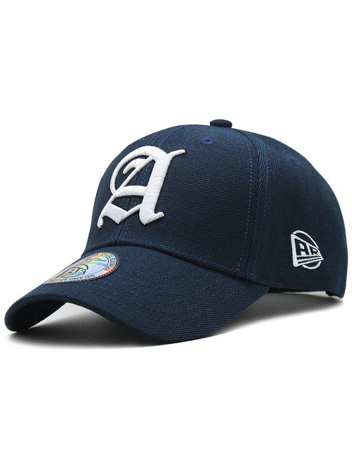 Simple Letter Embroidery Adjustable Graphic Hat - MIDNIGHT BLUE