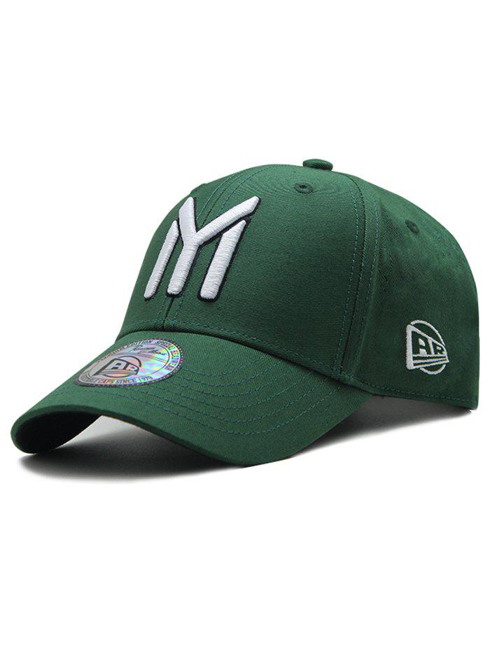 Unique Letter M Embroidery Sunscreen Hat - ARMY GREEN
