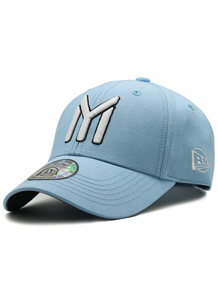 Unique Letter M Embroidery Sunscreen Hat - BLUE KOI