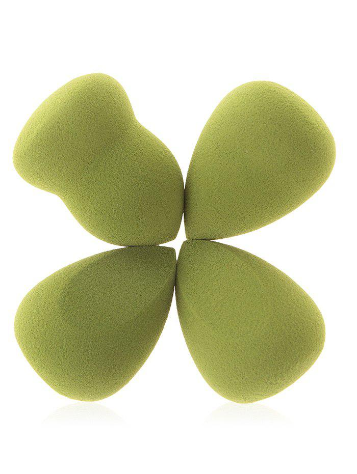 4Pcs Beauty Tools Makeup Sponge Puffs - GREEN