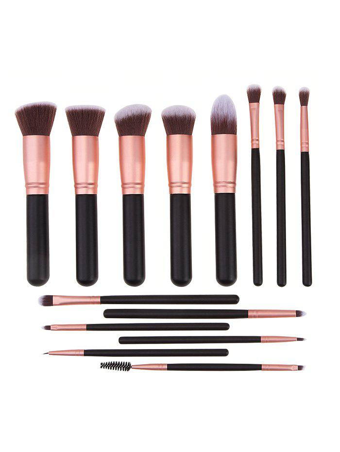 Beauty Tools 14Pcs Makeup Brushes Set - BLACK