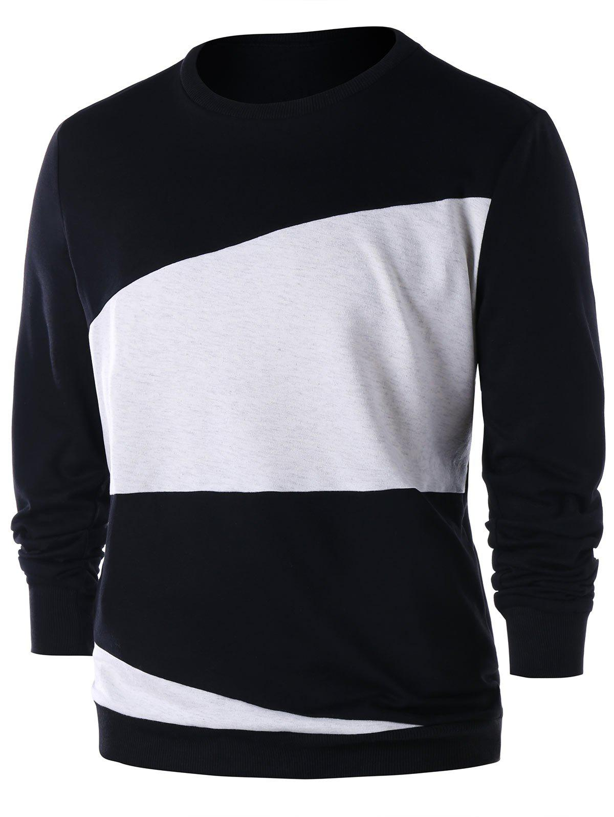 Two Tones Sweatshirt - BLACK L