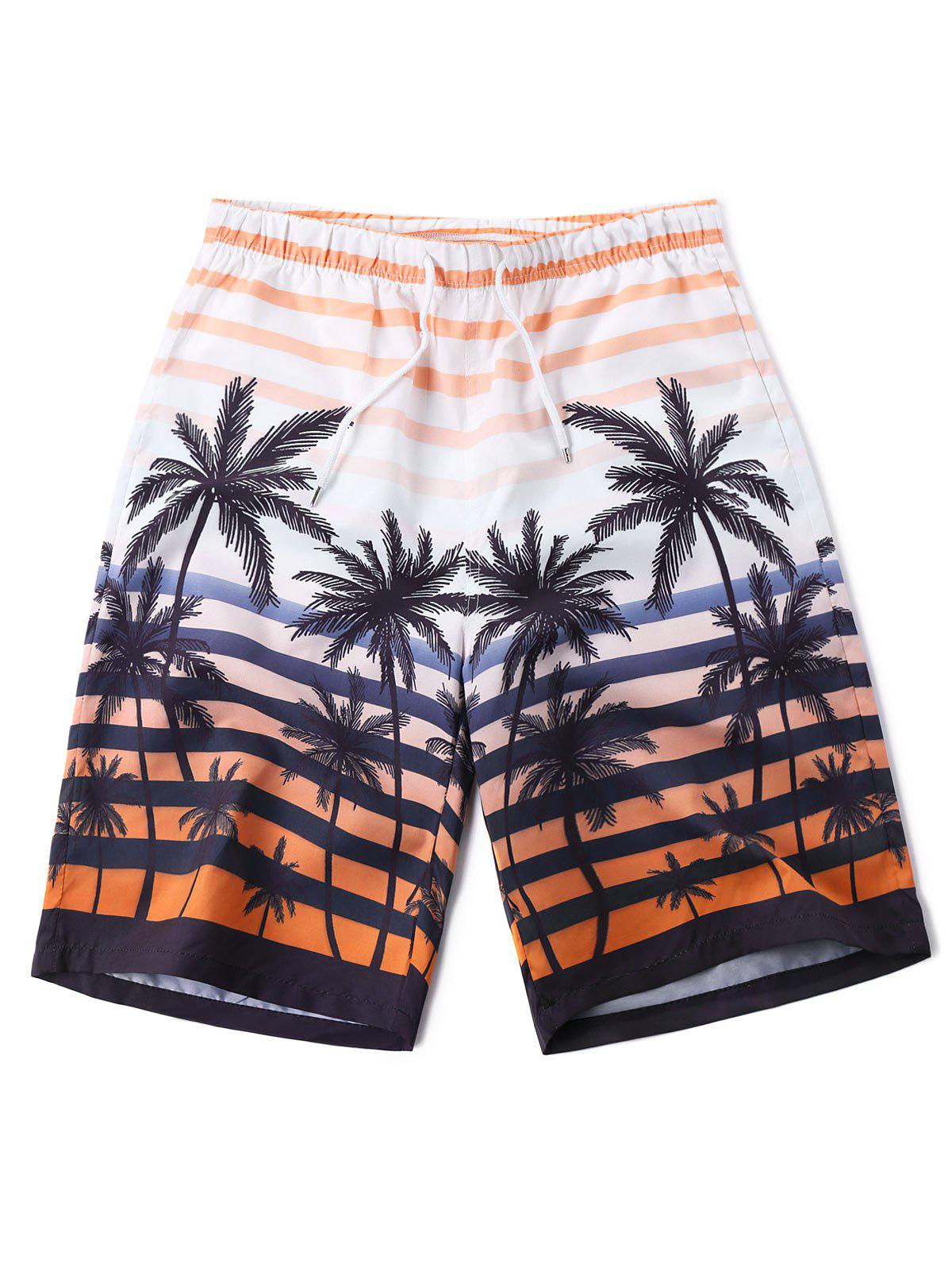 Coconut Tree Beach Bermuda Shorts elc молочный коктейль