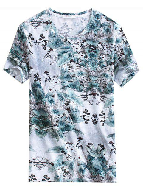 Chinoiserie Birds Printed T-shirt - multicolor M