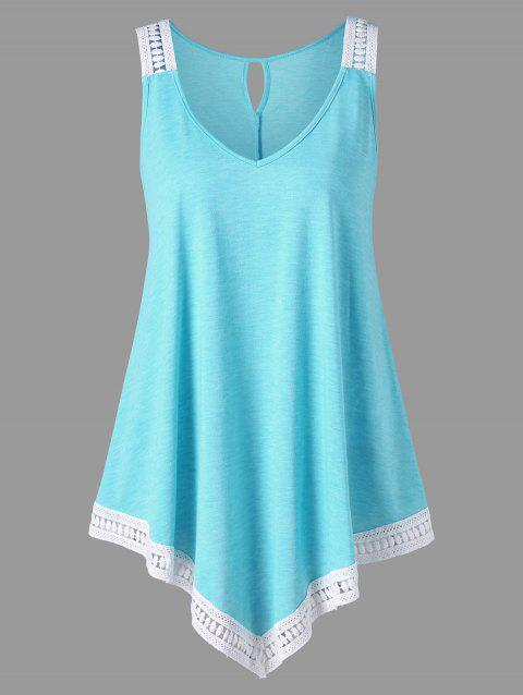 05ca379cc1bad4 CUSTOM  2019 Plus Size V-neck Swing Tank Top In LIGHT BLUE 2XL ...