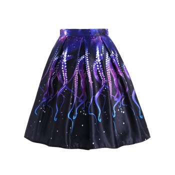 Octopus Claw A-line Skirt - BLACK M