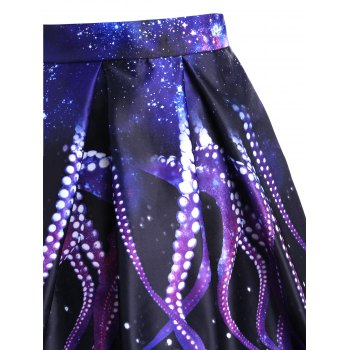 Octopus Claw A-line Skirt - BLACK L