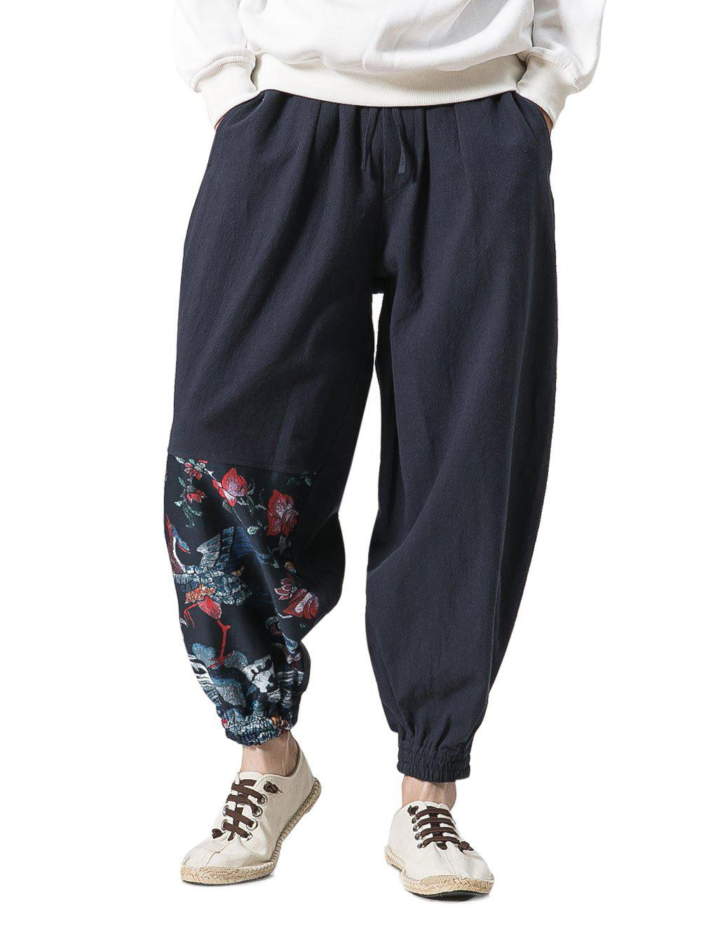 Chinoiserie Print Jogger Pants