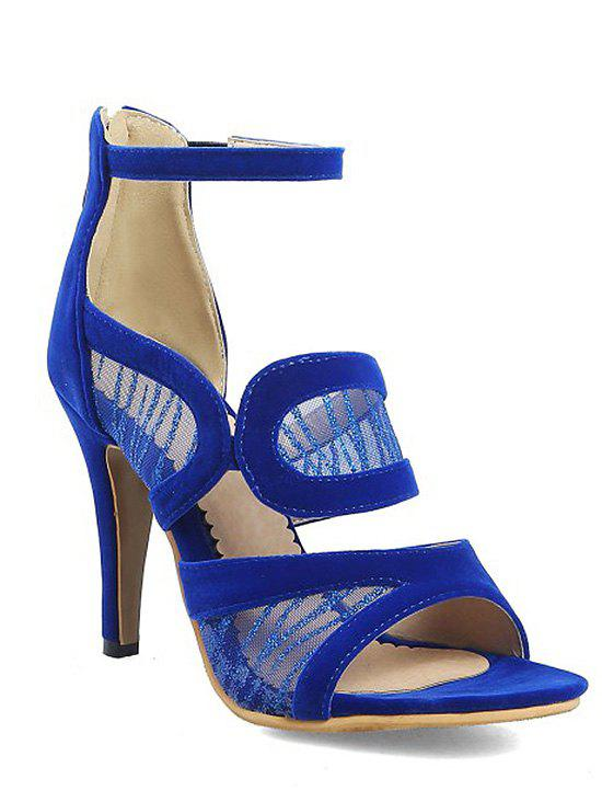Ankle Strap Zip Back High Heel Lace Sandals apricot suede ankle strap zipper back high heel sandals