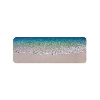 Beach Seaside Waves Print Floor Rug - multicolor W24 INCH * L71 INCH