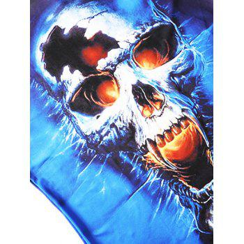 Casual Skull Pattern T-shirt - multicolor 5XL