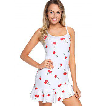 Graphic Mini Slip Dress - WHITE S