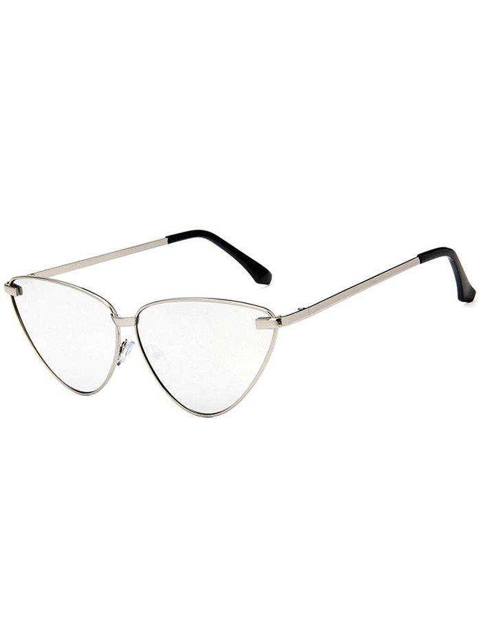 Metal Frame Flat Lens Driver Sunglasses - SILVER