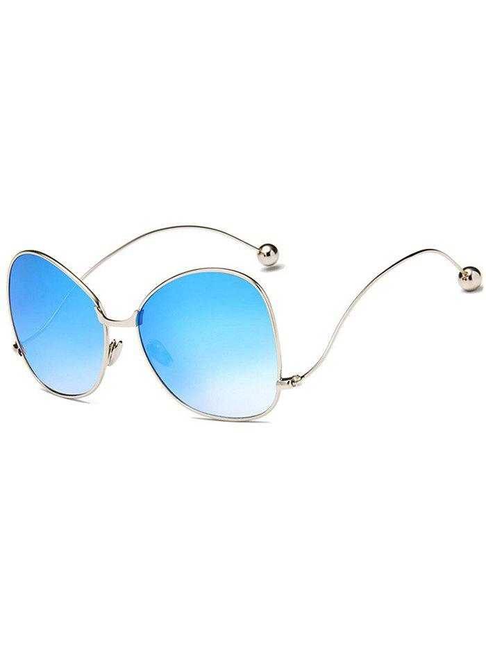 Anti UV Butterfly Curved Legs Sunglasses - DEEP SKY BLUE