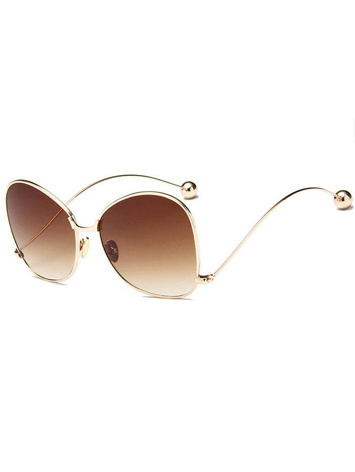 Anti UV Butterfly Curved Legs Sunglasses - COFFEE
