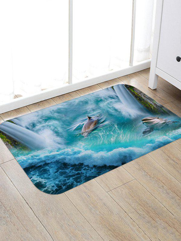 Dolphins Playing Print Nonslip Floor Rug цена 2017