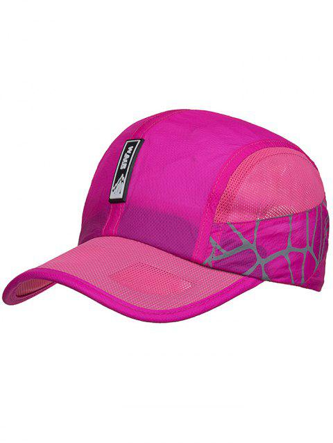 Outdoor Lightweight Quick Dry Mesh Baseball Hat - ROSE RED