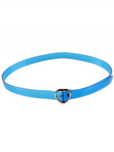 Statement Transparent Waist Belt with Metal Heart Buckle - ICEBERG