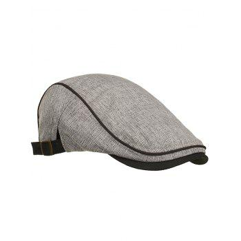 Outdoor Solid Color Adjustable Jeff Hat - LIGHT GRAY