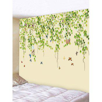 2018 Wall Hanging Art Decoration Tree Birds Print Tapestry ...